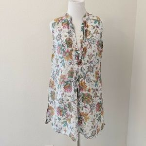 CAbi Size Medium Floral Tunic Top #FLAW*